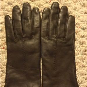 Vintage FOWNES Leather womens Brown Gloves Sz 7